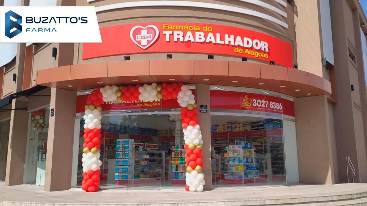 Farmácia do Trabalhador é inaugurada em Maceió com padrão de layout Buzatto's